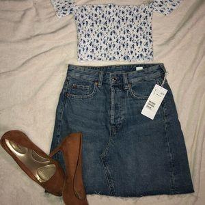 H&M denim skirt size NWT